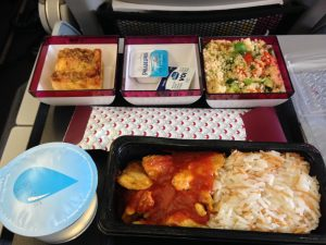 Lunch provided by Qatar Airways