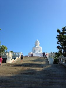 White Buddha at Wat Phra That in Pai