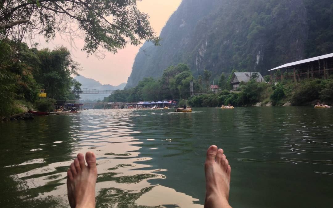 Flowing Weekend Tubing in Vang Vieng