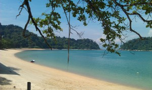 Beach in Pangkor Island, Malaysia