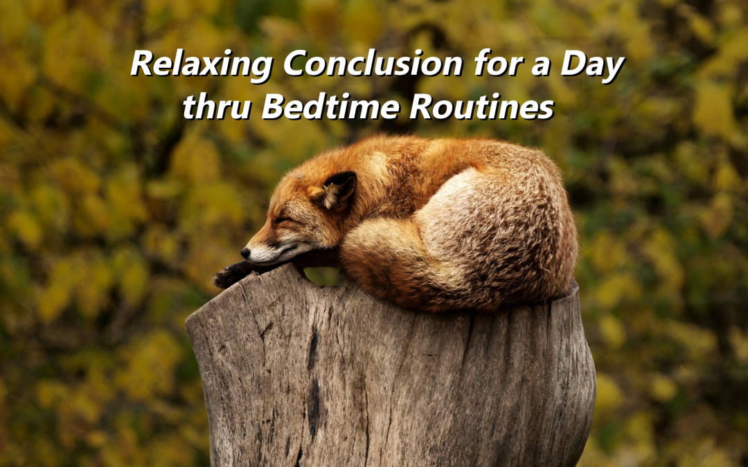 Relaxing Conclusion for a Day thru Bedtime Routines