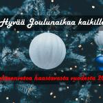 Hyvää Joulunaikaa! (+ yhteenvetoa haastavasta vuodesta 2017)